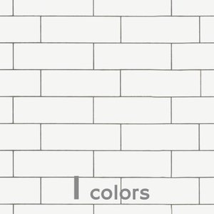 サブウェイタイル調 キッチン・リビング・浴室等壁用 サブウェイ・ホワイト  送料無料|good-tile