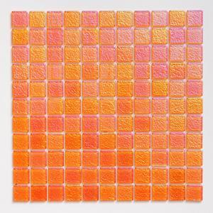 ガラスモザイクタイル 壁用 パールモザイク パステルオレンジ (MD-R1)|good-tile