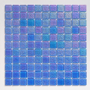 ガラスモザイクタイル 壁用 パールモザイク パステルブルー (MD-B2)|good-tile