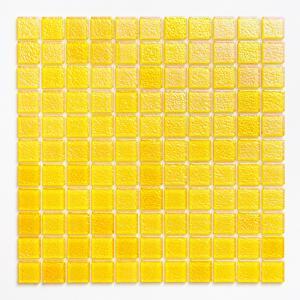 ガラスモザイクタイル 壁用 パールモザイク パステルイエロー (MD-Y3)|good-tile