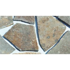 乱形石 お庭のガーデニング DIYもOK ジャワ鉄平石/スリなし 0.25m2/パック (RK11)|good-tile