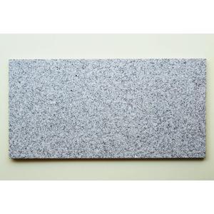 天然御影石 タイル(平板) 内装壁床・外装床用 ホワイト(G60336J)ジェットバーナー(4枚入り)|good-tile