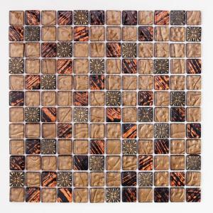モザイクタイル 壁用 ギャラクシー ブラウン (D-190)|good-tile
