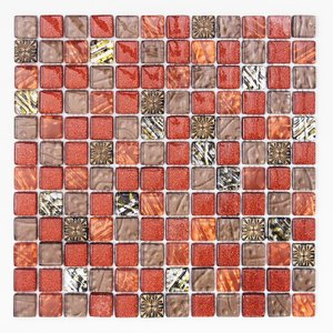 モザイクタイル 壁用 ギャラクシー ワインレッド (D-191)|good-tile