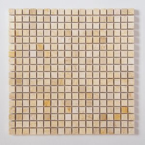 天然大理石モザイク 壁用 ベージュ 磨き (305MN005P) good-tile