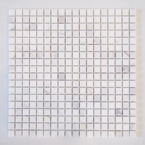 天然大理石モザイク 壁用 ビアンコ 磨き (305MN010P) good-tile
