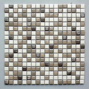モザイクタイル キッチン・洗面所等 ファニーモザイク グレー&ホワイトミックス (15304)|good-tile