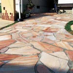 乱形石 お庭のガーデニング DIYもOK アルビノピンク(RK06PC)0.5平米セット(0.25平米×2パック)|good-tile
