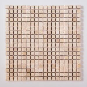 天然大理石モザイク 壁用 ベージュ マット (305MN005M) good-tile