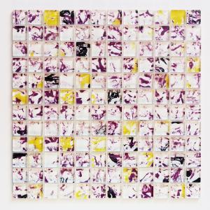 ガラスモザイクタイル 壁用 アートモザイク パープルミックス (141)|good-tile