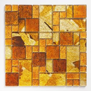 ガラスモザイクタイル 壁用 ステンドモザイク イエロー (PTMH-2)|good-tile