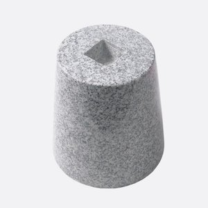 御影石 丸型・束石/沓石(白・5寸)(MTW5)|good-tile