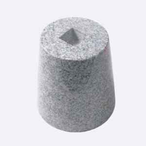 御影石 丸型・束石/沓石(白・6寸)(MTW6)|good-tile