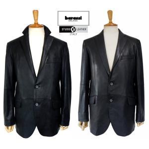 セール barassi バラシ レザージャケット 黒 高級イタリア製インポートレザー素材