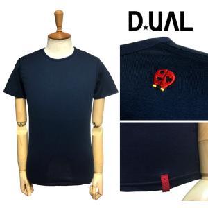 品名  DUAL デュアル SLIM FIT ピタT 背中ワンポイント刺しゅう 半袖Tシャツ   商...