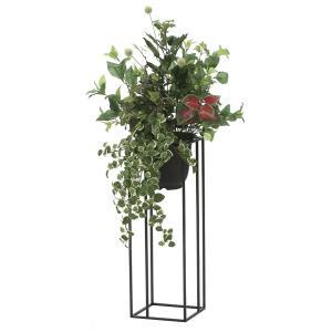 観葉植物 造花 グリーン「グリーンスタンド プミラ 100cm」光触媒 空気清浄 インテリア植物 スタンドグリーン 18 goodfellow