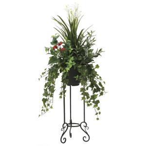 観葉植物 造花 グリーン「グリーンスタンド ユッカ 135cm」光触媒 空気清浄 インテリア植物 スタンドグリーン 18 goodfellow