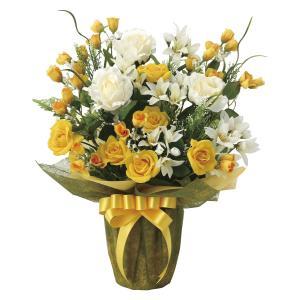 造花 アートフラワー アレンジ「パナマローズ」光触媒 空気清浄 インテリア植物 85 あすつく|goodfellow