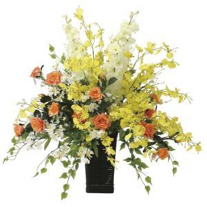 造花 アートフラワー アレンジ「ビィーライン」光触媒 空気清浄 インテリア植物 80|goodfellow