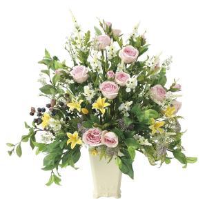 造花 アートフラワー アレンジ「ミックスベール」光触媒 空気清浄 インテリア植物 81|goodfellow