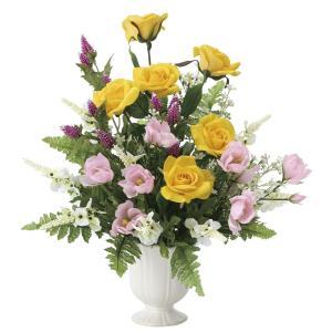 造花 アートフラワー アレンジ「プリムローズ」光触媒 空気清浄 インテリア植物 85|goodfellow
