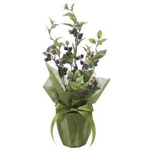 造花 観葉植物 「ブルーベリー 50cm」 光触媒 空気清浄 インテリアグリーン 56|goodfellow