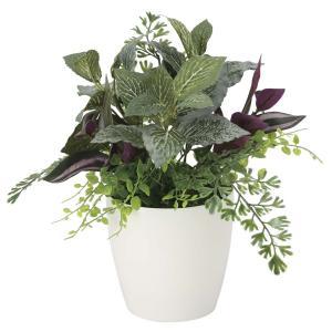 造花 観葉植物 「ミックスグリーン-S 28cm」 光触媒 空気清浄 インテリアグリーン 59|goodfellow