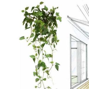 壁掛けグリーン 観葉植物 光触媒 造花 ガーランド /フィロ 272B3541