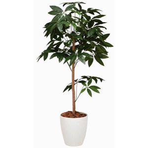 人工観葉植物 鉢植え インテリアグリーン 光触媒 造花 /パキラトピアリー150cm 194B25026|goodfellow