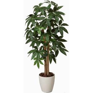 人工観葉植物 鉢植え インテリアグリーン 光触媒 造花 /パキラ100cm 199A15030|goodfellow