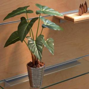 光触媒 観葉植物 造花 人工植物 グリーン /フィロデンドロン 243A5036|goodfellow