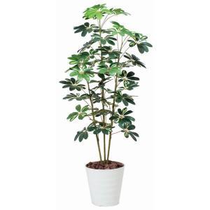 造花 観葉植物 光触媒 インテリアグリーン 鉢植え /カポック 斑入り150cm 355A20022|goodfellow