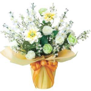 仏壇 供花 光触媒 造花の仏花アレンジ color-グリーン|goodfellow