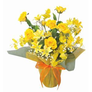造花 アートフラワー アレンジ 「サンシルク」 光触媒 空気清浄 インテリア植物 あすつく 送料無料|goodfellow