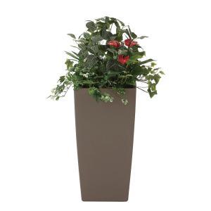 観葉植物 造花 グリーン「植栽アート-R アンスリューム」光触媒 空気清浄 インテリア植物 スタンドグリーン 19 goodfellow
