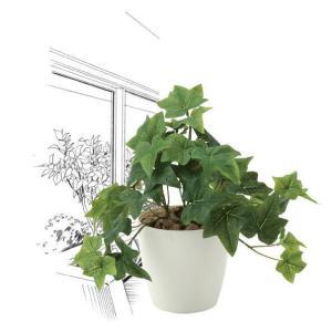 造花・観葉植物/フレッシュアイビーS 25cm 光触媒(空気浄化)  インテリア・フェイク鉢植え  640A3546-16|goodfellow