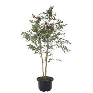 造花の観葉植物 「南天 100cm」光触媒 空気清浄 インテリア・グリーン フェイク 32|goodfellow