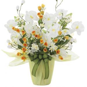 造花 アートフラワー アレンジ 光触媒(空気清浄) /メローホワイト 757A50-7817|goodfellow