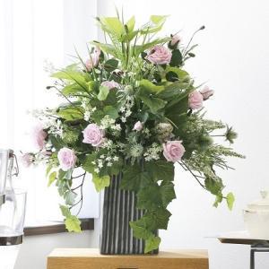 造花 アートフラワー アレンジ /パリスピンク 光触媒 空気清浄 インテリア植物|goodfellow