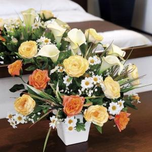 造花 アートフラワー アレンジ /サニーカラー 光触媒 空気清浄 インテリア植物|goodfellow