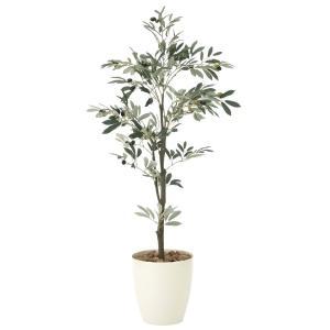 造花 観葉植物 「オリーブ・ツリー 130cm」 光触媒(空気浄化) インテリア・グリーン 42|goodfellow