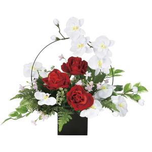 造花 アートフラワー 和風アレンジ「Wモダン」  光触媒(空気清浄) インテリア植物 84|goodfellow