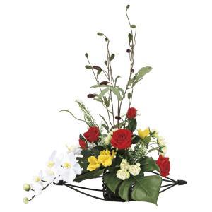 造花 アートフラワー 和風アレンジ「華やか」 光触媒(空気清浄) インテリア植物 84|goodfellow