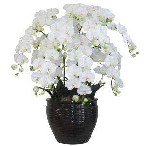 胡蝶蘭 鉢植 L(大)サイズ 10本立 白(リップ-黄) 造花 光触媒(空気清浄) アートフラワー|goodfellow