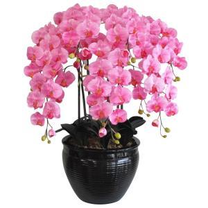 胡蝶蘭 鉢植 L(大)サイズ 7本立 ピンク 造花 光触媒(空気清浄) アートフラワー|goodfellow