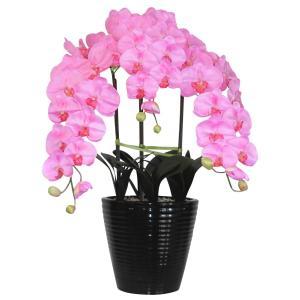 胡蝶蘭 鉢植 LL(特大)サイズ 3本立 ピンク 造花 光触媒(空気清浄) アートフラワー|goodfellow