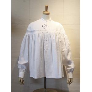 2019SS 春夏 Scye サイ Womens リネン 高密度 長袖 タックシャツ ブラウス 1219-31028 col.05 ホワイト|goodfellows928