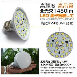 ポイント5倍 GOODGOODS LED電球 E26 12W 100W形相当 昼白色 ledライト ランプ 広角 天井照明 照明器具 省エネ 一年保証|goodgoods-1|05