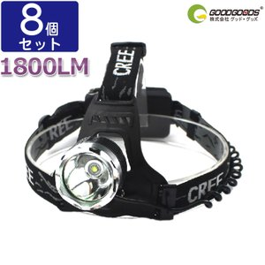 8個セット LEDヘッドライト 1800lm ヘ...の商品画像