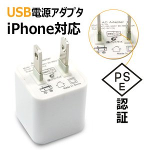 ACアダプター USB充電器 AC100-240V USB コンセント iPhone iPad スマホ タブレット Android 各種対応 家庭用コンセント 5V 1A|goodgoods-1|03